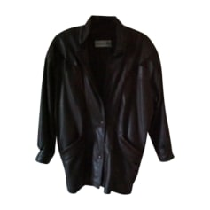 Manteau en cuir ARNAUD FOURREUR Marron