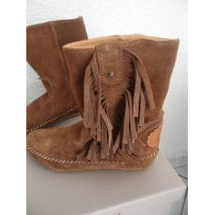 Bottines & low boots plates SAN MARINA Beige, camel