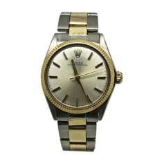 Armbanduhr ROLEX OYSTER PERPETUAL Silberfarben, stahlfarben