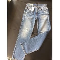 Jeans dritto ABERCROMBIE & FITCH Blu, blu navy, turchese