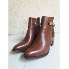 Bottines & low boots à talons REGARD COGNAC