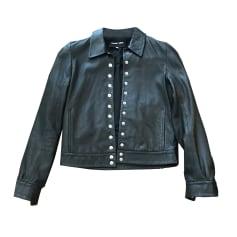 Leather Zipped Jacket BIMBA & LOLA Black