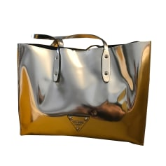 Leather Handbag GUESS Silver