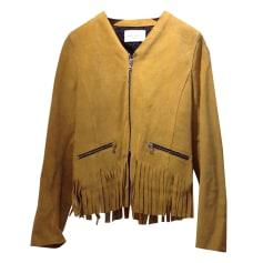 Leather Jacket SANDRO Safan