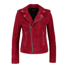 Leather Jacket THE KOOPLES Red, burgundy