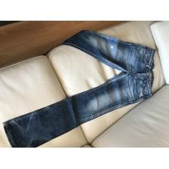 Jeans large, boyfriend EDWIN Bleu, bleu marine, bleu turquoise
