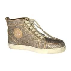 Sneakers CHRISTIAN LOUBOUTIN Golden, bronze, copper