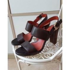 Sandales à talons SANTONI Marron