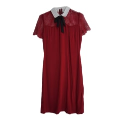 Mini Dress SANDRO Red, burgundy