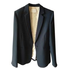 Blazer, veste tailleur SANDRO Bleu, bleu marine, bleu turquoise