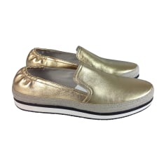 Sneakers PRADA Gold, Bronze, Kupfer
