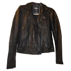 Leather Jacket LE TEMPS DES CERISES Black