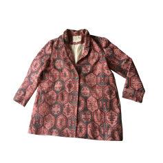 Manteau MAJE vieux rose et impressions