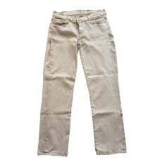 Jeans droit 7 FOR ALL MANKIND Beige, camel