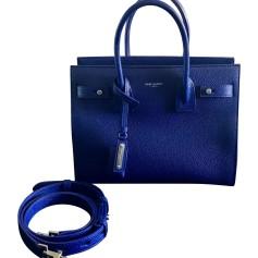 Sac en bandoulière en cuir SAINT LAURENT Bleu, bleu marine, bleu turquoise