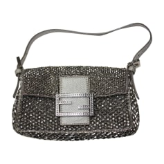 Leather Handbag FENDI Gray, charcoal