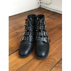 Bottines & low boots motards LA FÉE STYLÉE Noir