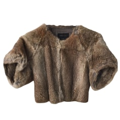 Fur Jackets BCBG MAX AZRIA Beige, camel