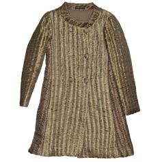 Coat ANTIK BATIK Golden, bronze, copper