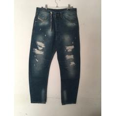 Jeans largo DIESEL Blu, blu navy, turchese