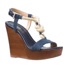 Sandales compensées MICHAEL KORS Bleu, bleu marine, bleu turquoise