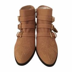 High Heel Ankle Boots CHLOÉ Susanna Beige, camel