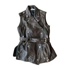 Leather Zipped Jacket ISABEL MARANT ETOILE Brown