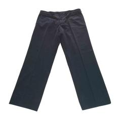 Pantalone dritto PRADA Blu, blu navy, turchese