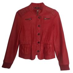 Leather Jacket DKNY Red, burgundy