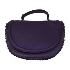 Leather Handbag CHRISTIAN LOUBOUTIN Purple, mauve, lavender