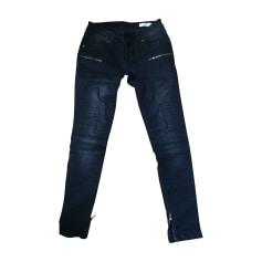 Jeans slim ANINE BING Gris, anthracite
