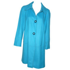 Coat M MISSONI Blue, navy, turquoise