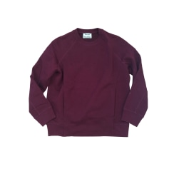 Sweat ACNE Rouge, bordeaux