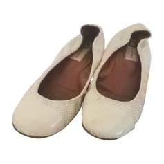 Ballerinas LANVIN Weiß, elfenbeinfarben