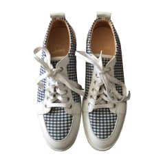 Baskets CHRISTIAN LOUBOUTIN Blanc, blanc cassé, écru