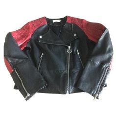 Leather Zipped Jacket ELEVEN PARIS Black