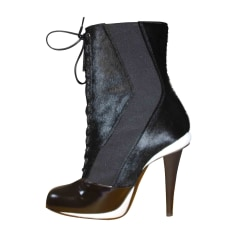 High Heel Boots FENDI Black