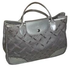 Leather Handbag LONGCHAMP Silver