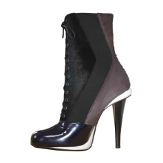 High Heel Ankle Boots FENDI Brown