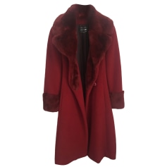 Fur Coat GEORGES RECH Red, burgundy