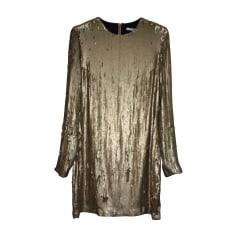 Midi Dress DIANE VON FURSTENBERG Golden, bronze, copper