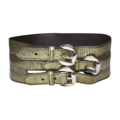 Wide Belt ALEXANDER MCQUEEN Golden, bronze, copper