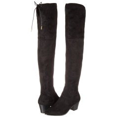 Thigh High Boots BUFFALO Black