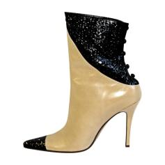 Bottines & low boots à talons ALEXANDRA NEEL Marron clair & noir