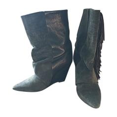 6d44f25f268f Bottines   low boots à compensés ISABEL MARANT Gris