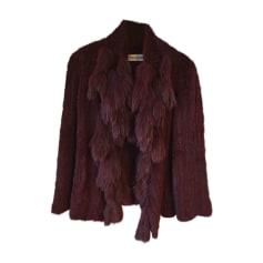 Coat YVES SALOMON Red, burgundy