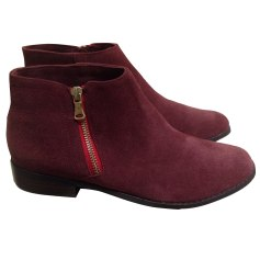 Flat Ankle Boots MELLOW YELLOW Red, burgundy