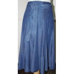 Jupe mi-longue GERARD DAREL Bleu, bleu marine, bleu turquoise