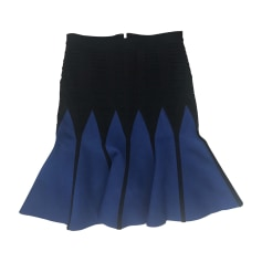 Jupe courte HERVE LEGER Bleu, bleu marine, bleu turquoise