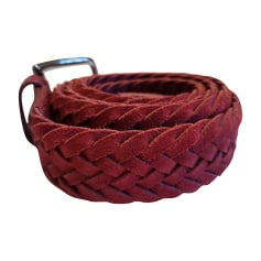 Belt TOD'S Red, burgundy